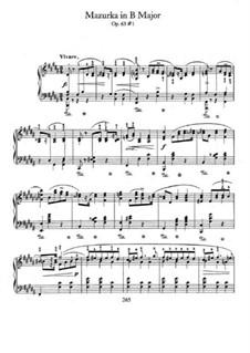 Mazurkas, Op.63: No.1 in B Major by Frédéric Chopin