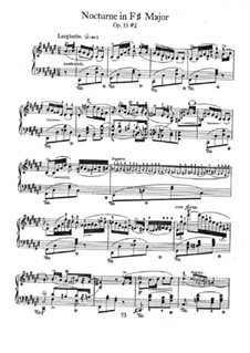 Nocturnes, Op.15: No.2 in F Sharp Major by Frédéric Chopin