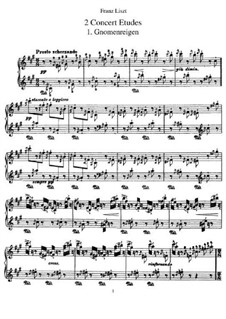 Two Concert Etudes, S.145: Complete set by Franz Liszt