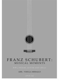 Six Musical Moments, D.780 Op.94: Musical moment No.3, for string orchestra by Franz Schubert
