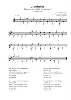 Glanderlied: Glanderlied by Hoffmann von Fallersleben