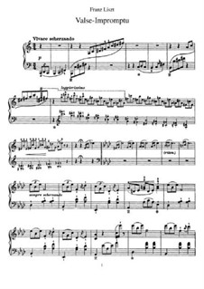 Waltz-Impromptu in A Flat Major, S.213: For piano by Franz Liszt