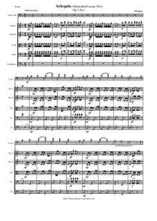 Scenes from a Masked Ball for Cello and Piano, Op.3: No.1 Harlequin, for cello and string orchestra - score and parts by David Popper