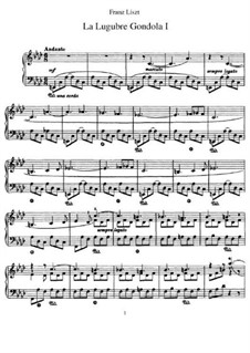 La lugubre gondola I, S.200/1: For piano by Franz Liszt