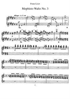 Waltz No.3 in D Sharp Minor, S.216: For piano by Franz Liszt