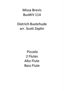 Missa Brevis, BuxWV 114: For flutes by Dietrich Buxtehude