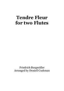 No.10 Tendre Fleur (A Dainty Flower): For two flutes by Johann Friedrich Burgmüller