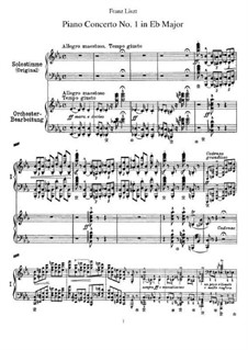 Piano Concerto No.1 (for Two Pianos Four Hands), S.650: Piano score by Franz Liszt