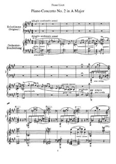 Piano Concerto No.2 (for Two Pianos Four Hands), S.651: Piano score by Franz Liszt