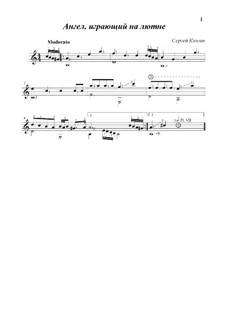 Angel playing the lute: Angel playing the lute by Sergej Kolgan