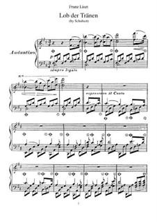 Lob der Tränen (In Praise of Tears), D.711 Op.13 No.2: For piano, S.557 by Franz Schubert