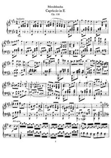 Capriccio in E Major, Op.118: For piano by Felix Mendelssohn-Bartholdy