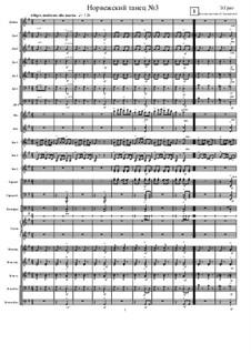 Four Norwegian Dances, Op.35: Dance No.3, for russian folk orchestra by Edvard Grieg