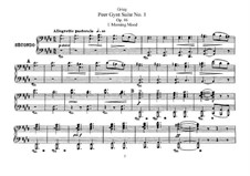 Suite No.1, Op.46: For piano four hands by Edvard Grieg