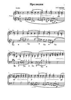 Twenty-Four Preludes, Op.11: Prelude No.4 by Alexander Scriabin