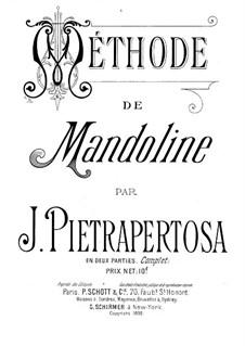 Mandolin Method: Mandolin Method by Jean Pietrapertosa