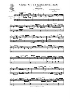 2 Courantes, HWV 488/489: For harpsichord (or piano) by Georg Friedrich Händel