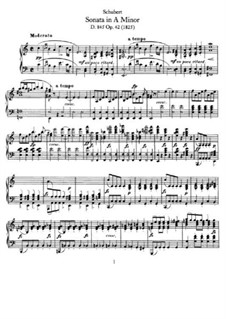 Sonata for Piano No.16 in A Minor, D.845 Op.42: For a single performer by Franz Schubert