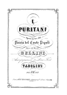 I puritani (The Puritans): Piano-vocal score by Vincenzo Bellini