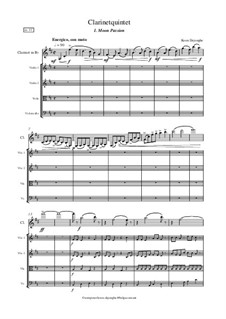 Clarinetquintet 'Imagination': Full score by Koen Dejonghe