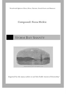 Storm Bay Shanty: For wind quintet by Fiona Hickie