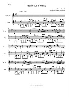 Oedipus, Z.583: Music for a While, for alto saxophone and guitar by Henry Purcell
