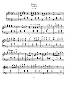 Cotillon, D.976: For piano by Franz Schubert