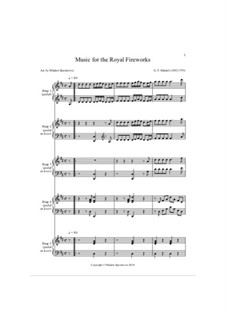 Fireworks Music, HWV 351: Hornpipe, for harp quintet by Georg Friedrich Händel