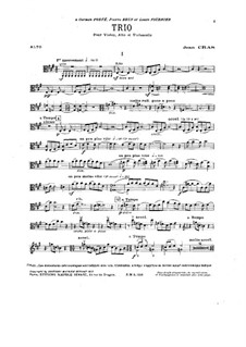 Trio for Strings in A Major: Viola part by Jean Cras