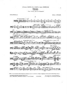 Trio for Strings in A Major: Cello part by Jean Cras