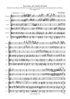 Nun komm, der Heiden Heiland, Op.189: Nun komm, der Heiden Heiland by Klaus Miehling