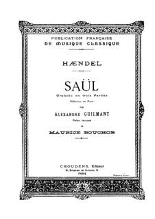 Saul, HWV 53: Piano-vocal score by Georg Friedrich Händel