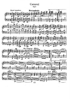 Carnival, Op.9: Complete set by Robert Schumann