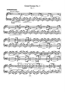 Sonata No.1 in F Sharp Minor, Op.11: For piano by Robert Schumann