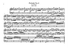 Five Preludes, BWV 939-943: Prelude No.4 by Johann Sebastian Bach
