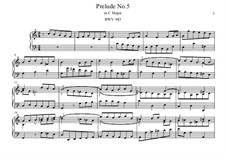 Five Preludes, BWV 939-943: Prelude No.5 by Johann Sebastian Bach