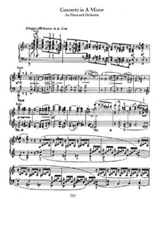Concerto for Piano and Orchestra in A Minor, Op.54: Solo part by Robert Schumann