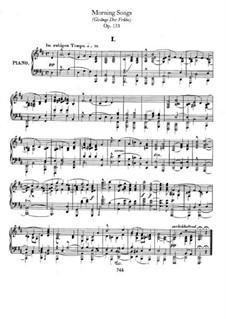 Gesänge der Frühe (Morning Songs), Op.133: Complete set by Robert Schumann