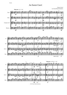 Easter Carol: For woodwind quartet by Charles Wood