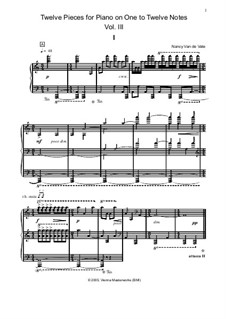 Twelve Pieces for Piano on One to Twelve Notes: Volume III by Nancy Van de Vate