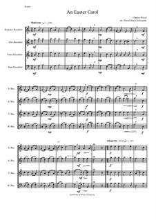 Easter Carol: For recorder quartet by Charles Wood
