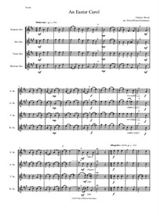 Easter Carol: For saxophone quartet by Charles Wood