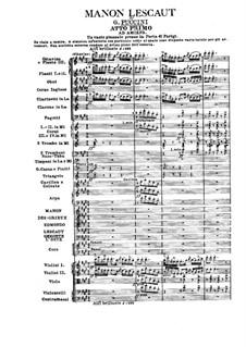 Manon Lescaut : Full score by Giacomo Puccini