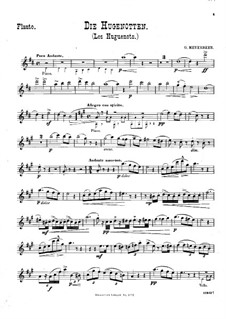 Transcriptions on Themes from Operas by Meyerbeer for Violin (or Flute), Cello and Piano: Flute part by Wilhelm Popp