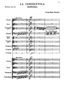 La Cenerentola (Cinderella): Full score by Gioacchino Rossini