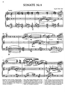 Sonata for Piano No.8, Op.66: For a single performer by Alexander Scriabin
