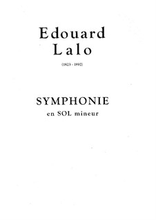 Симфония: Симфония by Édouard Lalo