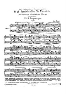 Impromptu No.1 in A Flat Major, Op.29: For piano by Frédéric Chopin