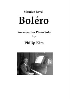 Bolero, M.81: For piano solo by Maurice Ravel