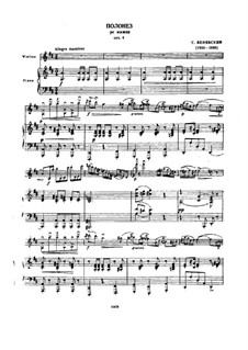 Polonaise de Concert for Violin and Piano No.1 in D Major, Op.4: Score for two performers, Solo part by Henryk Wieniawski